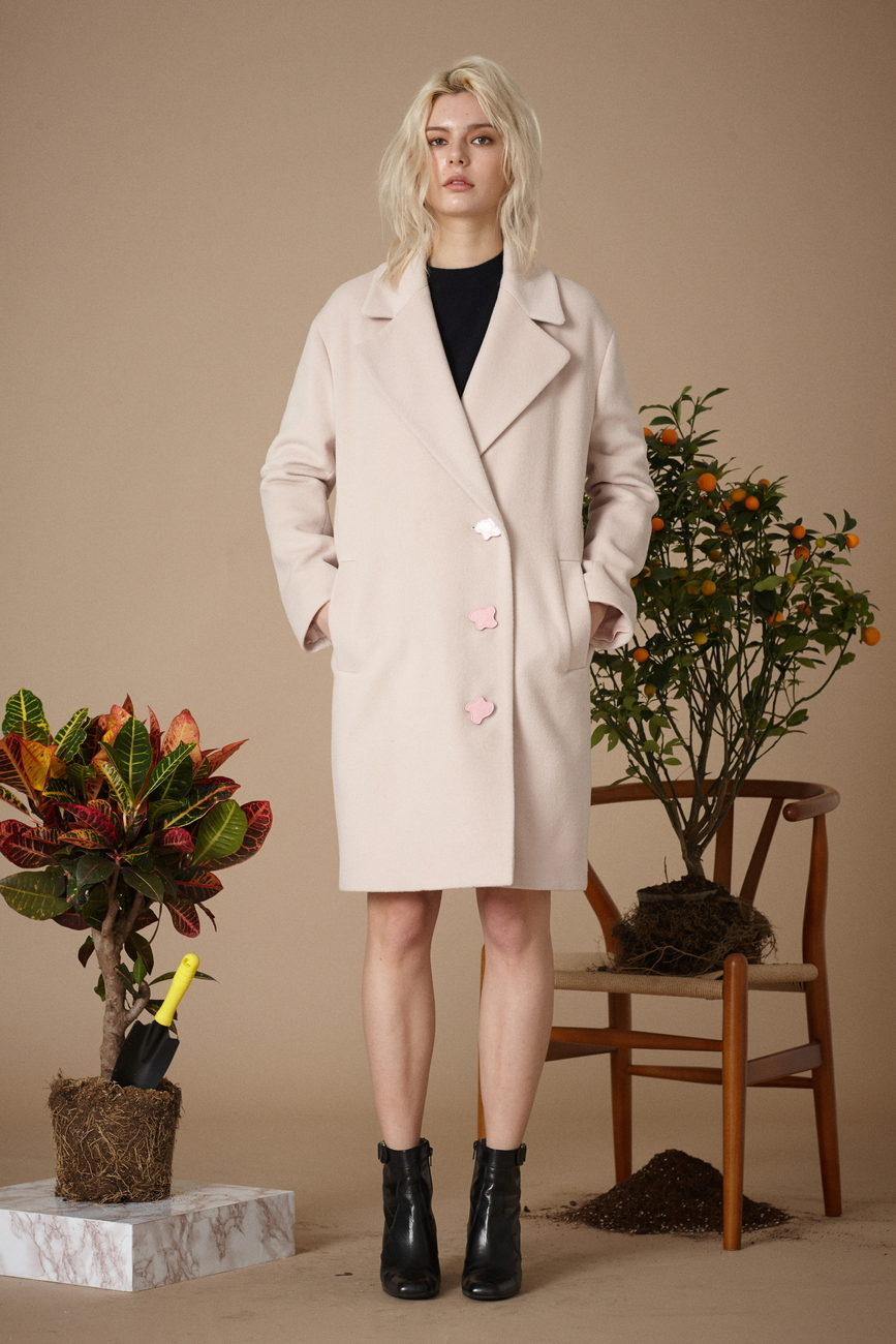 Martina Pink Wool Coat