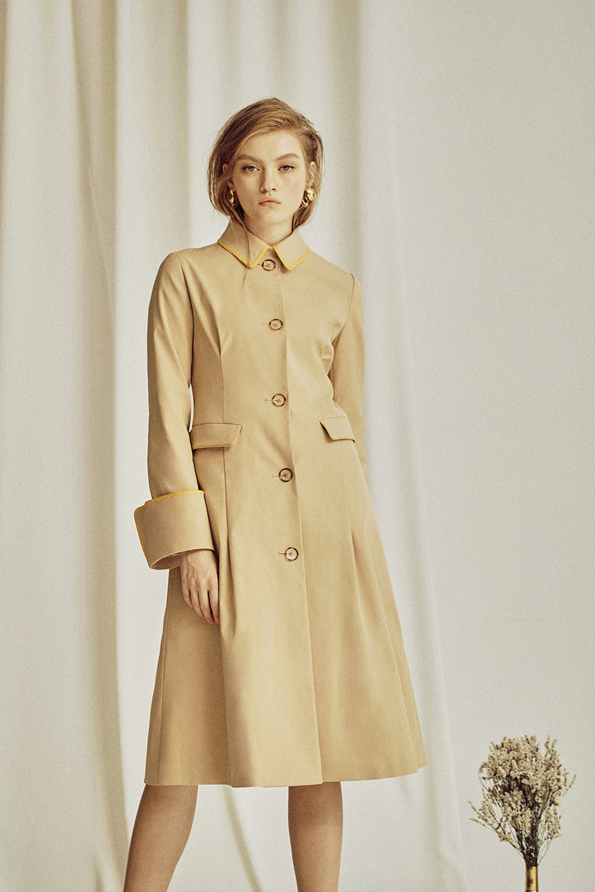 Cindy Bell Sleeve Trench Coat
