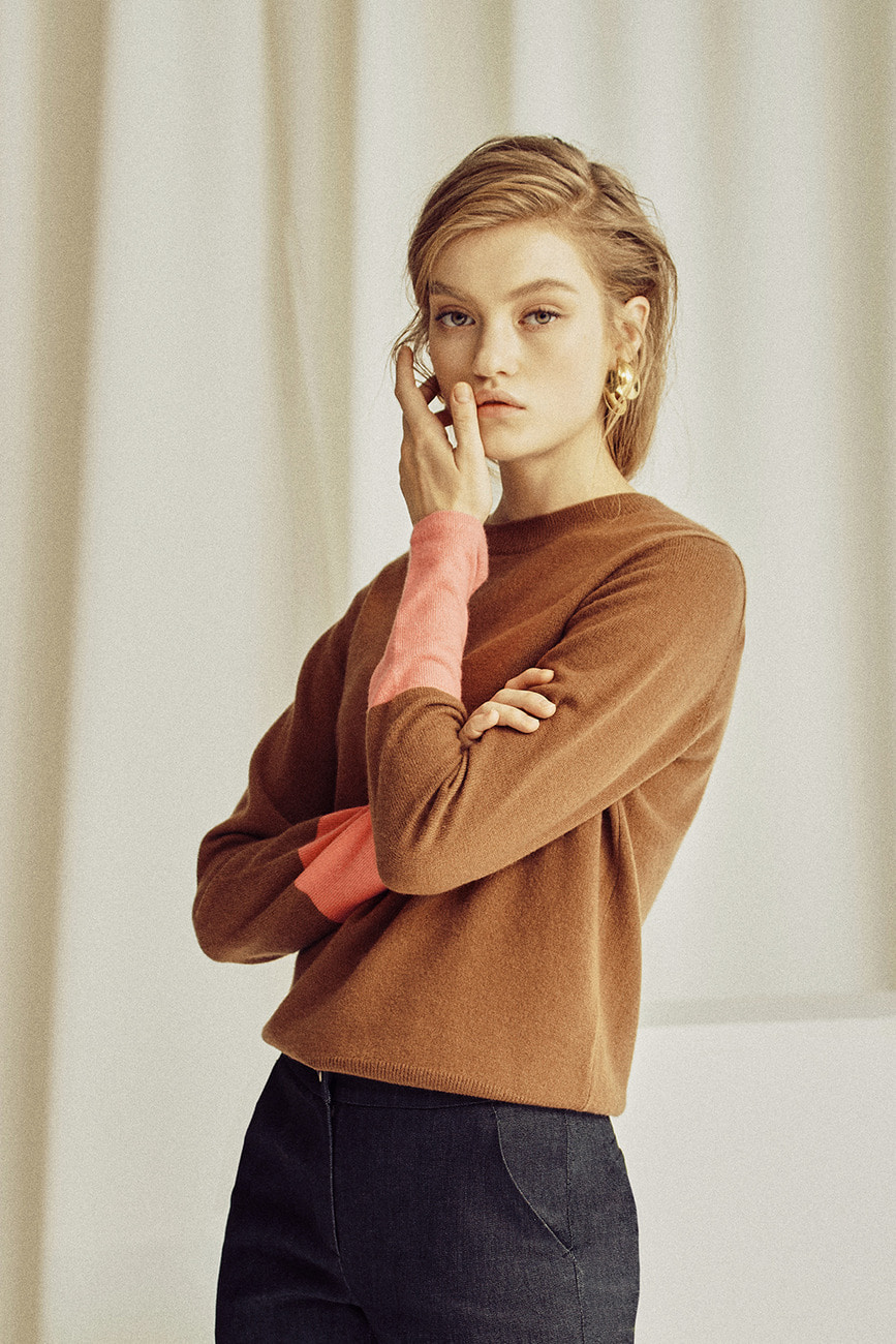 Charlotte Color Dipped Cashmere Sweater
