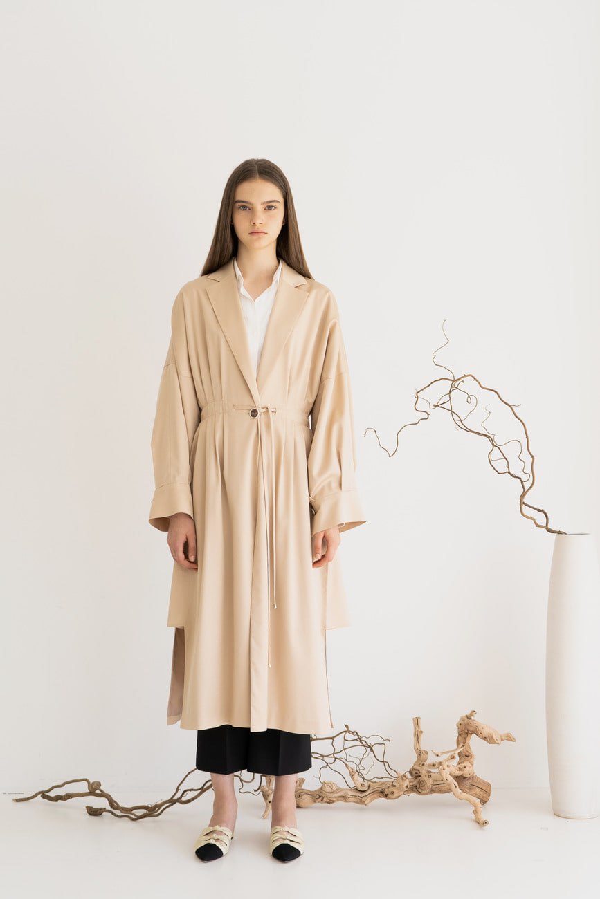 Camila Beige Trench Coat